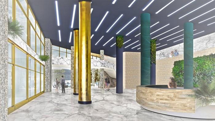 Проект интерьера Холла в Петербурге