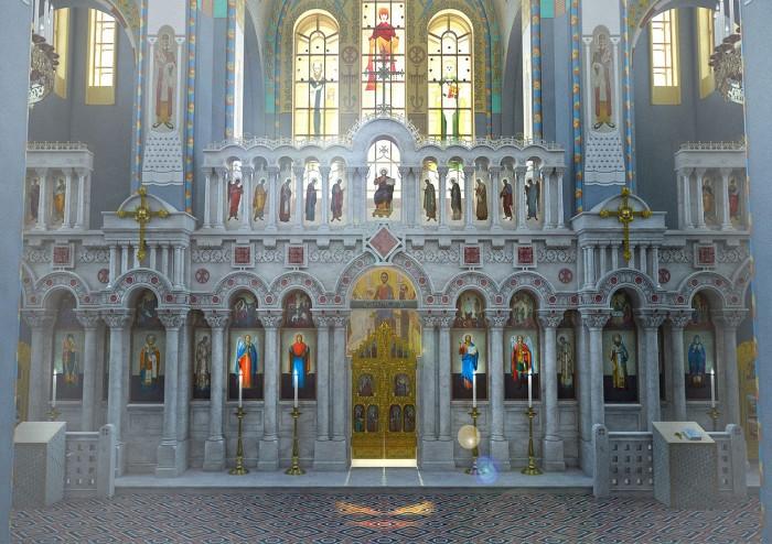 Проект воссоздания интерьера Храма Спаса в Иваново